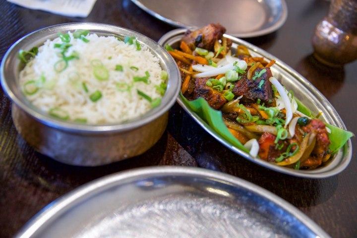 Sri Lankan Devilled Chicken with Rice